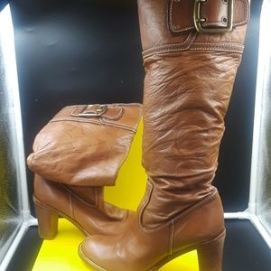 Authentic coach leather  knee high boots